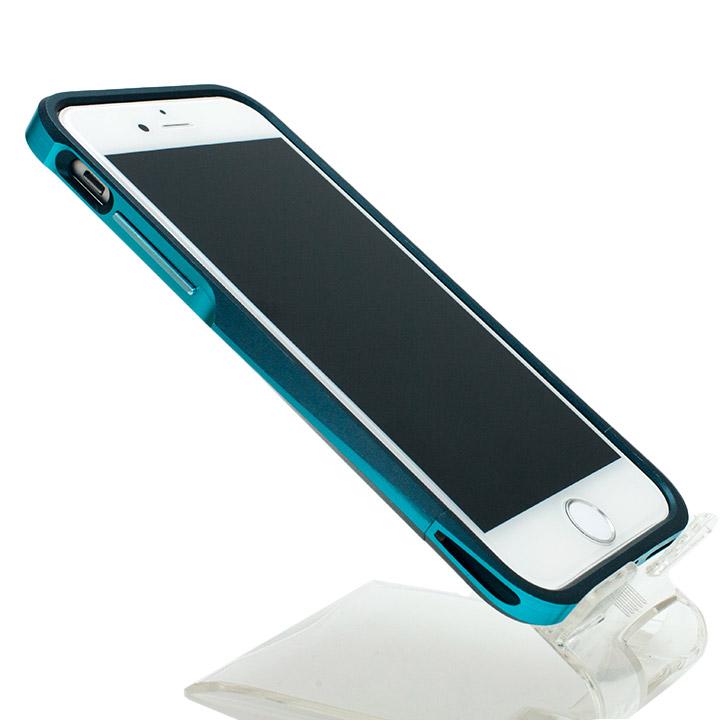 【iPhone6ケース】[初回生産限定]GRAMAS ラウンドメタルバンパー ネイビー/ターコイズ iPhone 6_0