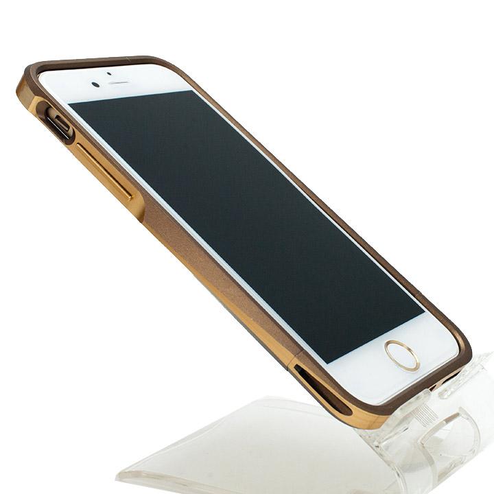 【iPhone6ケース】[初回生産限定]GRAMAS ラウンドメタルバンパー ブラウン/ゴールド iPhone 6_0