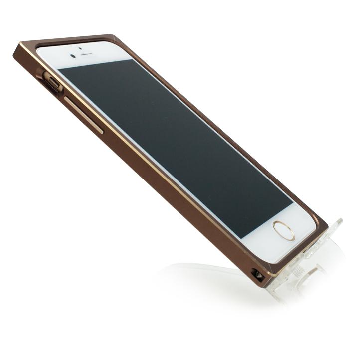 【iPhone6s/6ケース】[初回生産限定]GRAMAS ストレートメタルバンパー ブラウン/ゴールド iPhone 6s/6_0