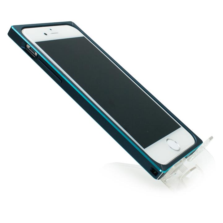 iPhone6s/6 ケース [初回生産限定]GRAMAS ストレートメタルバンパー ネイビー/ターコイズ iPhone 6s/6_0