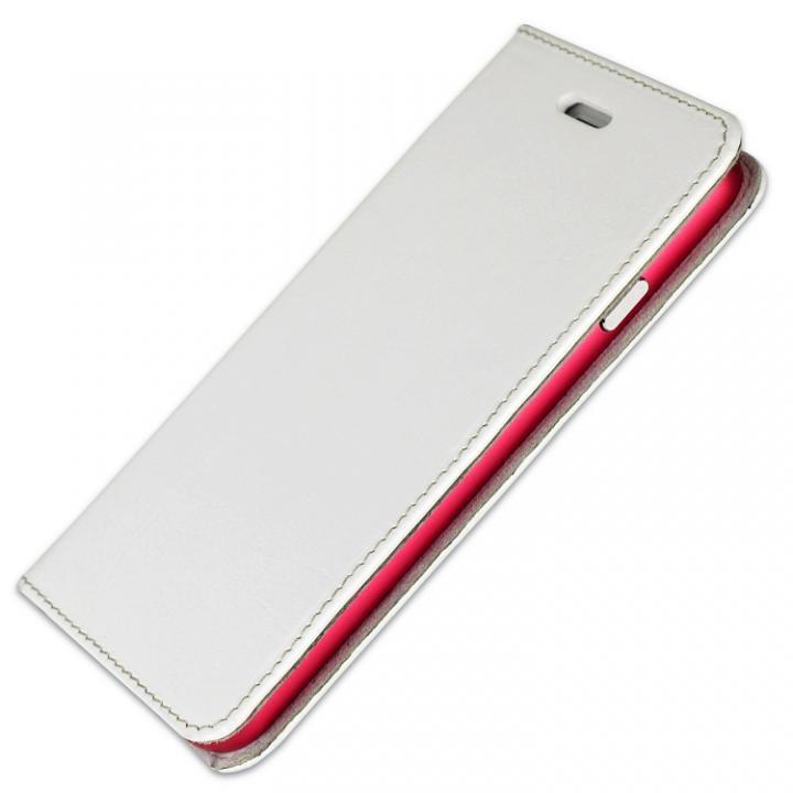 iPhone6s/6 ケース 手帳×アルミバンパーケース Cuoio 白×レッド iPhone 6s/6_0