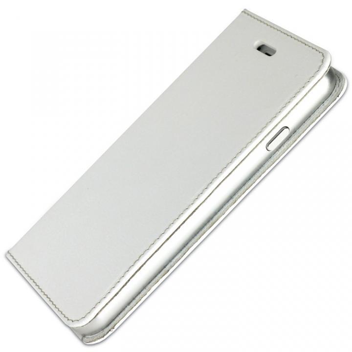 iPhone6s/6 ケース 手帳×アルミバンパーケース Cuoio 白×シルバー iPhone 6s/6_0