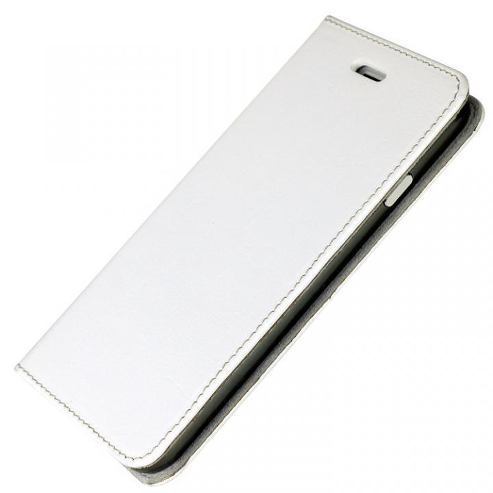 iPhone6s/6 ケース 手帳×アルミバンパーケース Cuoio 白×ガンメタ iPhone 6s/6_0