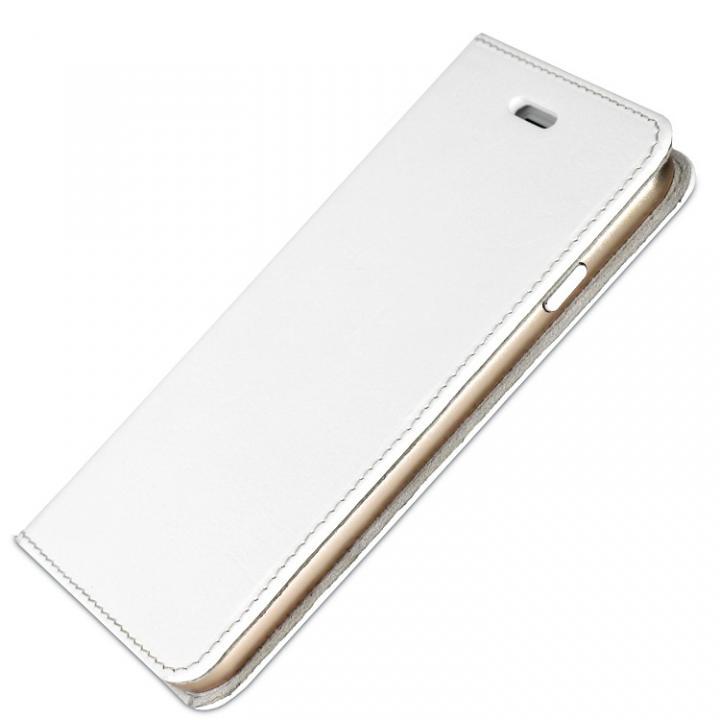 iPhone6s/6 ケース 手帳×アルミバンパーケース Cuoio 白×ゴールド iPhone 6s/6_0