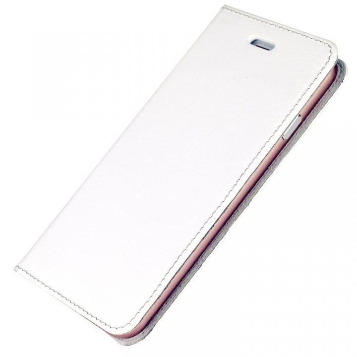 iPhone6s/6 ケース 手帳×アルミバンパーケース Cuoio 白×ローズゴールド iPhone 6s/6_0