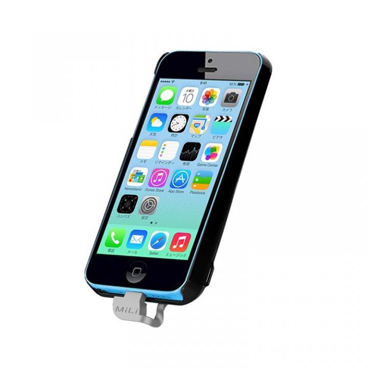 【iPhone SE/5s/5ケース】MiLi Power Spring 5  iPhone 5c バッテリー内蔵ケース ブラック_0