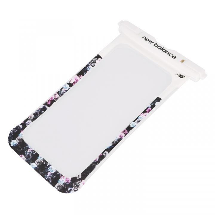 iPhone 11 Pro Max ケース New Balance 防水ポーチ ホワイト×フラワー_0