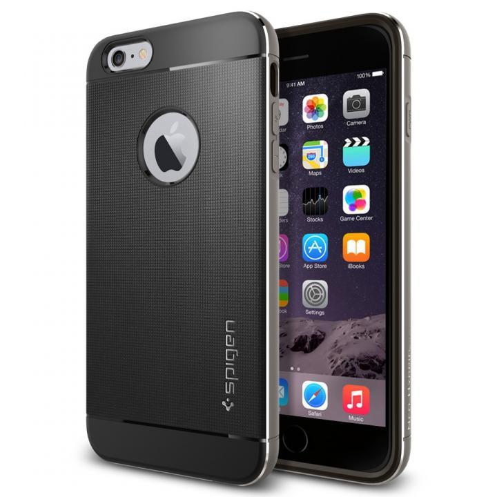 iPhone6 Plus ケース Spigen アルミフレーム ネオ・ハイブリッド メタル グレイ iPhone 6 Plus_0