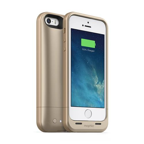 iPhone SE/5s/5 ケース 薄型バッテリー内蔵ケース mophie juice pack air  iPhone SE/5s/5 ゴールド_0