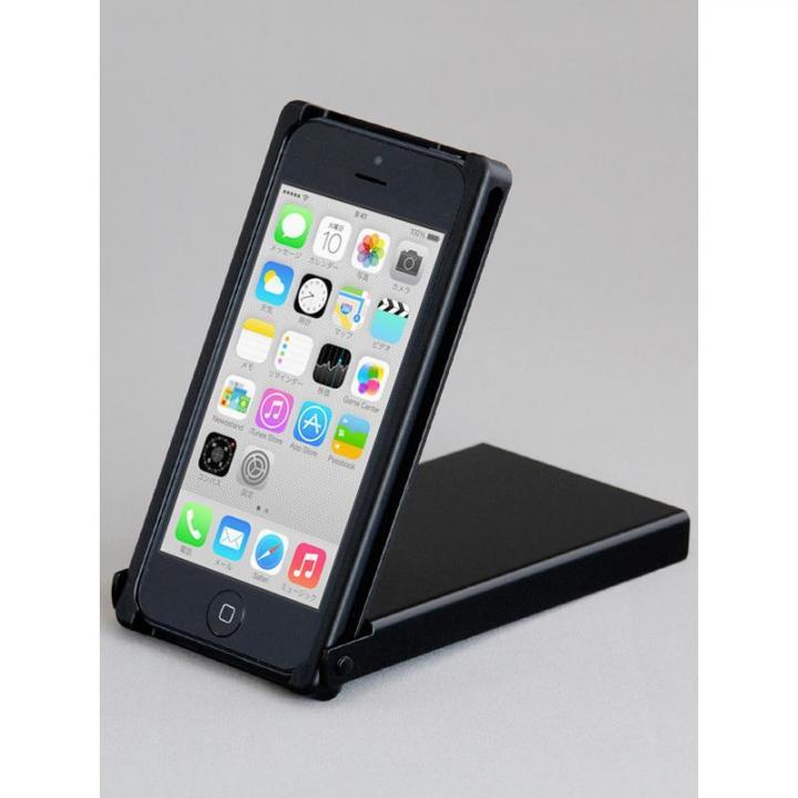 ヌンチャクケース Trick Cover アルミカラバリ ブラック iPhone 5s/5ケース