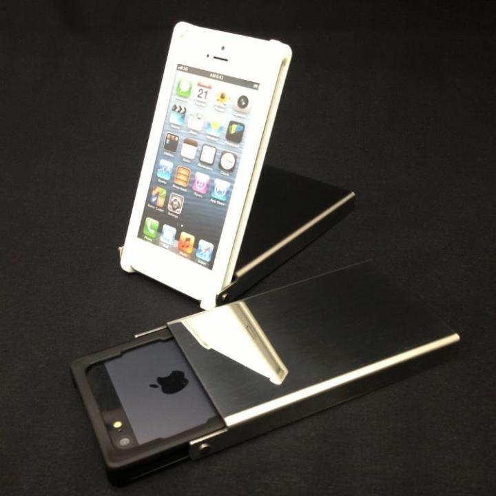 ヌンチャクケース Trick Cover ステンレス鏡面 ブラック iPhone SE/5s/5ケース