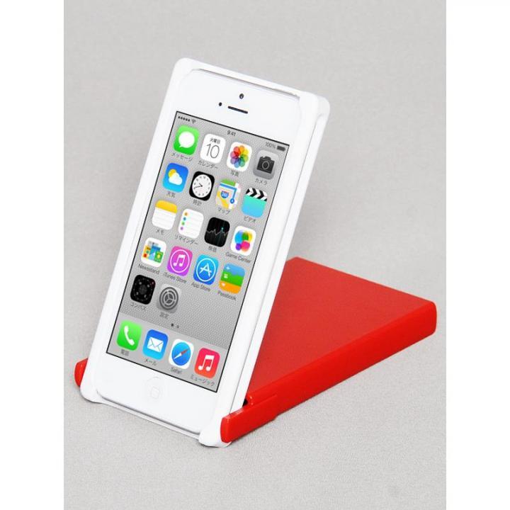 iPhone SE/5s/5 ケース ヌンチャクケース Trick Cover  ホワイト・レッド iPhone SE/5s/5ケース_0