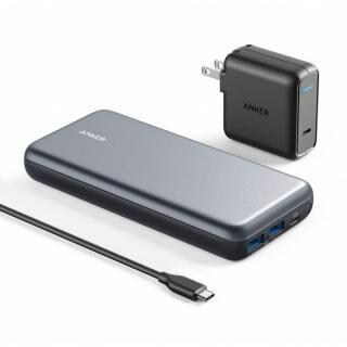 Anker PowerCore+ 19000 PD対応 モバイルバッテリー 19200mAh グレー