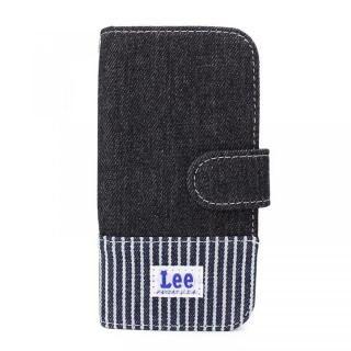 【iPhone6 ケース】Lee デニムとヒッコリーの2トーン手帳型ケース ブラック iPhone 8/7/6s/6【9月上旬】