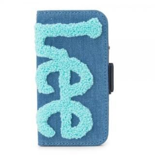 Lee サガラ刺繍 手帳型ケース ブルー/ブルー iPhone X【4月下旬】