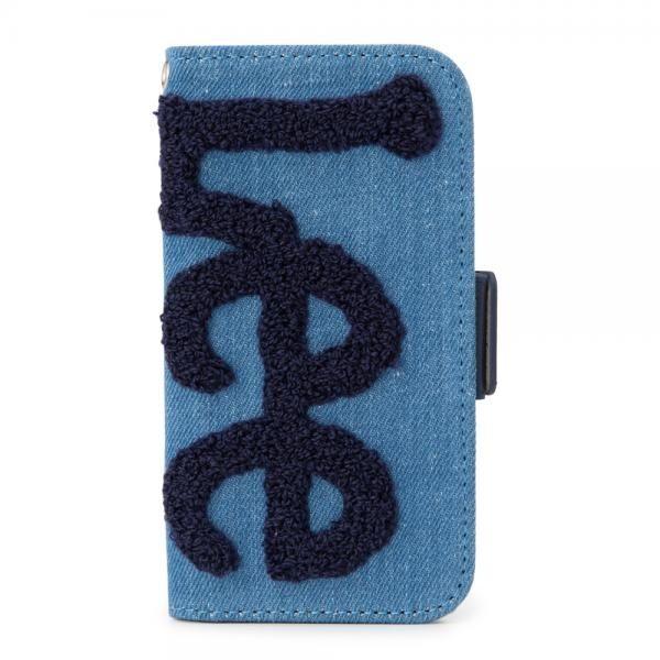 【iPhone8/7/6s/6ケース】Lee サガラ刺繍 手帳型ケース ブルー/ネイビー iPhone 8/7/6s/6_0