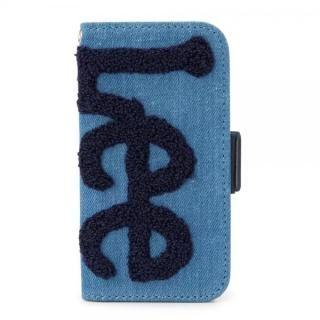Lee サガラ刺繍 手帳型ケース ブルー/ネイビー iPhone 8/7/6s/6