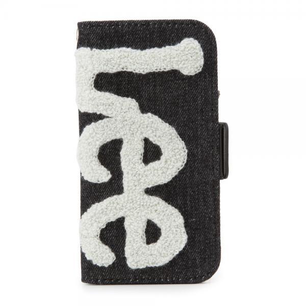 iPhone8/7/6s/6 ケース Lee サガラ刺繍 手帳型ケース ブラック/グレイ iPhone 8/7/6s/6_0