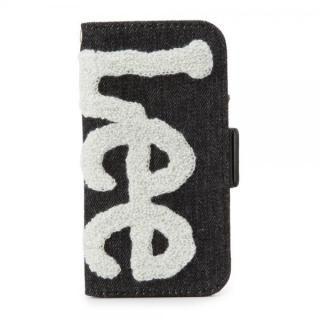 【iPhone7 ケース】Lee サガラ刺繍 手帳型ケース ブラック/グレイ iPhone 8/7/6s/6