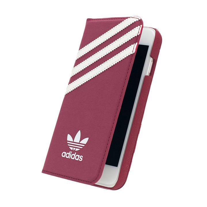 【iPhone6s/6ケース】adidas スエード 手帳型ケース レッド/ホワイト iPhone 6s/6_0
