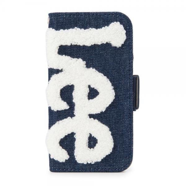 iPhone8/7/6s/6 ケース Lee サガラ刺繍 手帳型ケース ネイビー/ホワイト iPhone 8/7/6s/6_0