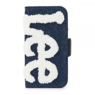 【iPhone8/7/6s/6ケース】Lee サガラ刺繍 手帳型ケース ネイビー/ホワイト iPhone 8/7/6s/6