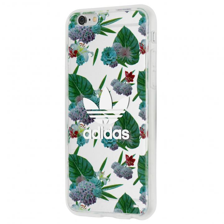 【iPhone6s/6ケース】adidas クリアケース Flower White iPhone 6s/6_0