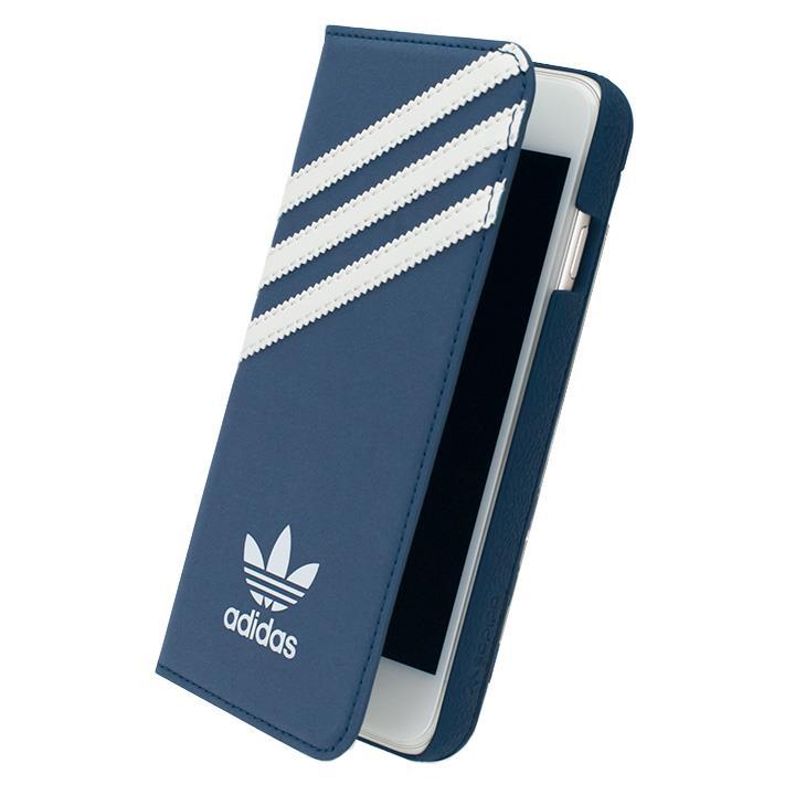 iPhone6s/6 ケース adidas スエード 手帳型ケース ブルー/ホワイト iPhone 6s/6_0
