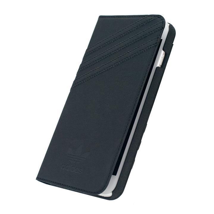 adidas スエード 手帳型ケース ブラック iPhone 6s Plus/6 Plus