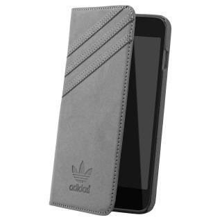 adidas スエード 手帳型ケース グレー iPhone 6s Plus/6 Plus