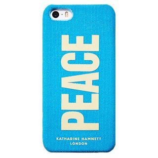 キャサリン・ハムネット iPhone SE/5s/5 ファブリックカバーセット(ブルー)