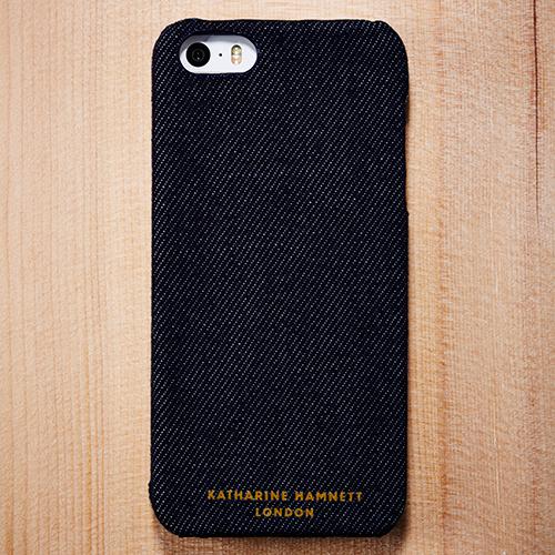 キャサリン・ハムネット iPhone SE/5s/5 ファブリックカバーセット(デニム)