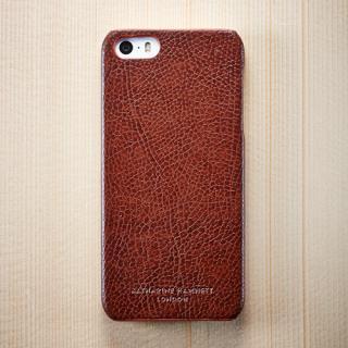 キャサリン・ハムネット エコレザーカバーセット ブラウン  iPhone SE/5s/5ケース
