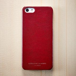 キャサリン・ハムネット エコレザーカバーセット レッド  iPhone SE/5s/5ケース