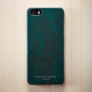 キャサリン・ハムネット エコレザーカバーセット グリーン  iPhone SE/5s/5ケース