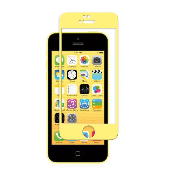 iPhone SE/5s/5 フィルム moshi iVisor 硬度9H強化ガラスバブルフリー  iPhone SE/5s/5/5c イエロー_0