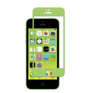 iPhone SE/その他の/iPod フィルム moshi iVisor 硬度9H強化ガラスバブルフリー  iPhone SE/5s/5/5c グリーン