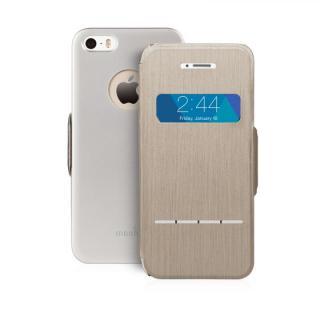 moshi SenseCover ブラッシュドチタン iPhone SE/5s/5 手帳型ケース