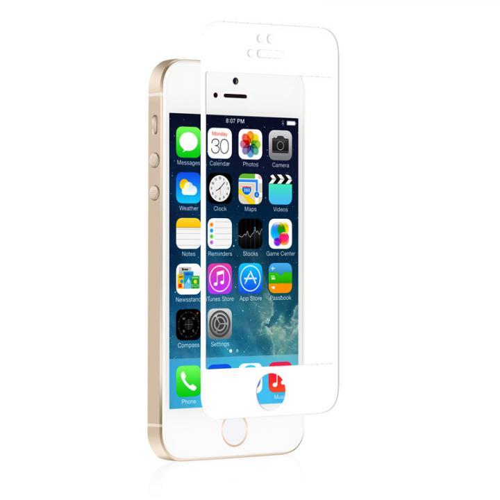 iPhone SE/5s/5 フィルム moshi iVisor 硬度9H強化ガラスバブルフリー  iPhone SE/5s/5/5c ホワイト_0