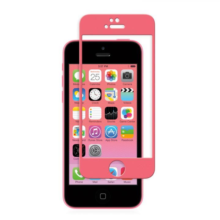 iPhone SE/5s/5 フィルム moshi iVisor 硬度9H強化ガラスバブルフリー  iPhone SE/5s/5/5c ピンク_0