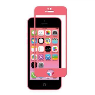 iPhone SE/その他の/iPod フィルム moshi iVisor 硬度9H強化ガラスバブルフリー  iPhone SE/5s/5/5c ピンク