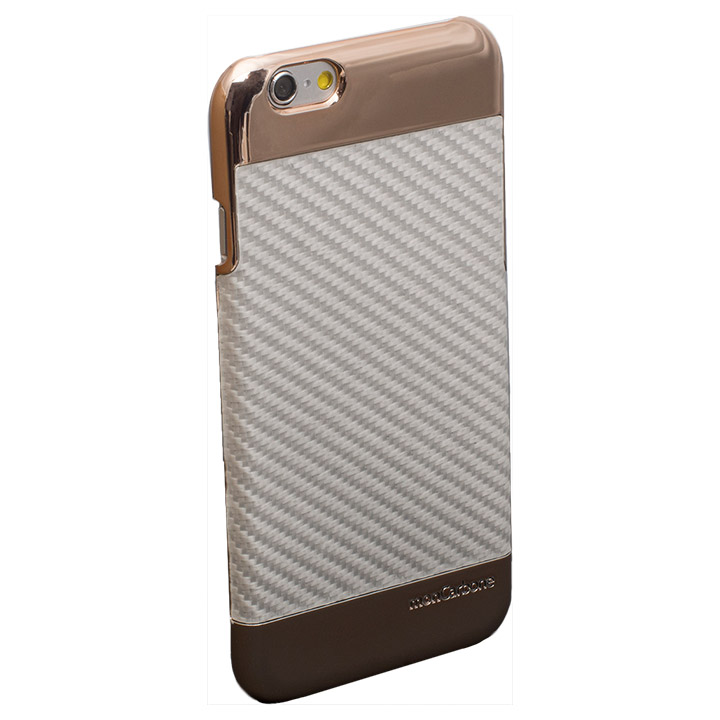 iPhone6s/6 ケース Deff monCarbone Curve パールホワイト iPhone 6s/6_0