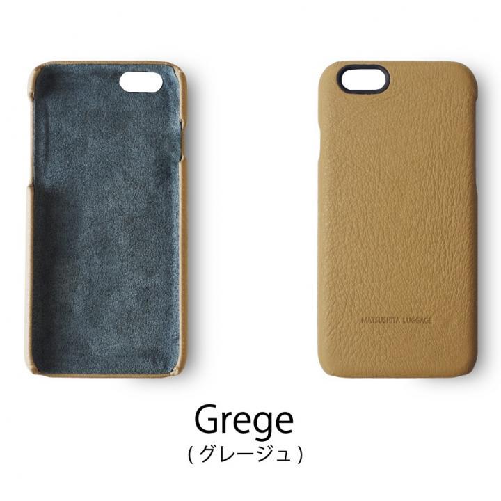 日本製天然皮革使用 レザーケース グレージュ iPhone 6