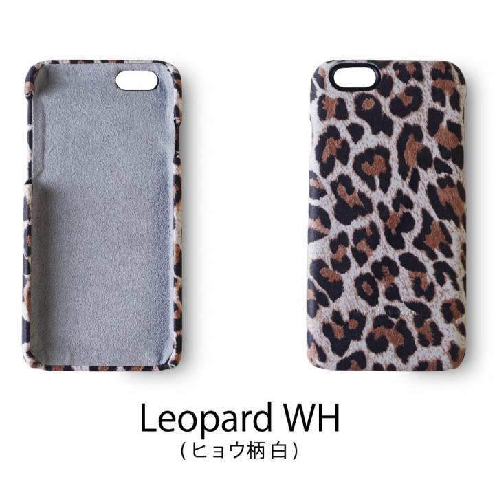 【iPhone6ケース】日本製天然皮革使用 レザーケース ヒョウ柄白 iPhone 6_0