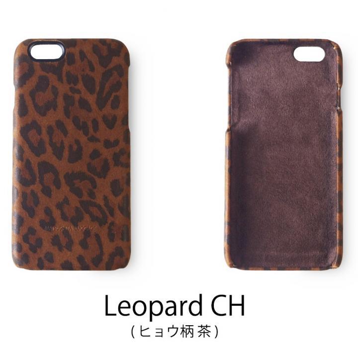 日本製天然皮革使用 レザーケース ヒョウ柄茶 iPhone 6
