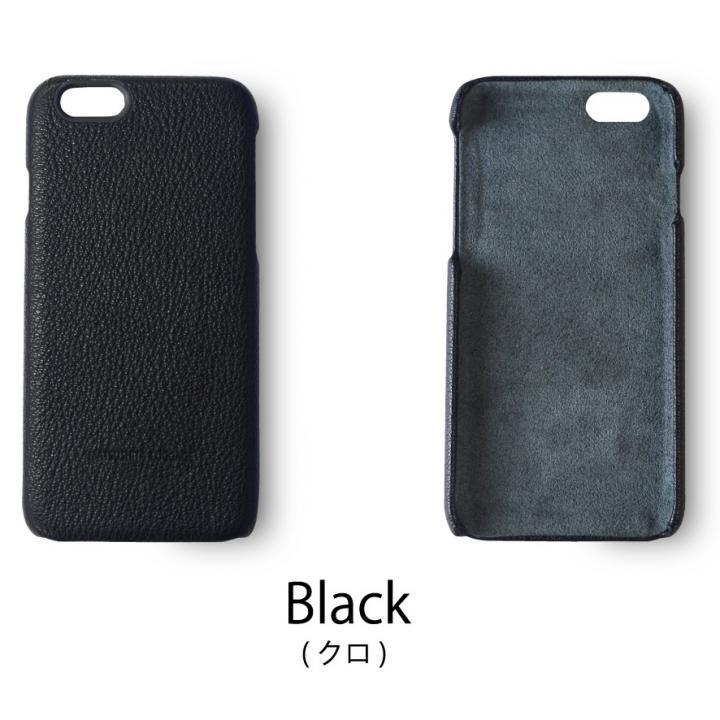 日本製天然皮革使用 レザーケース ブラック iPhone 6