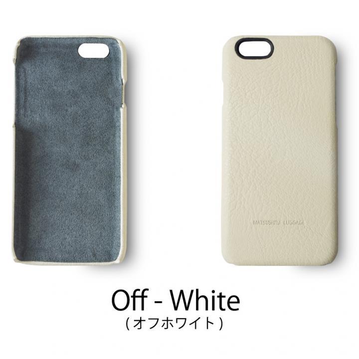 日本製天然皮革使用 レザーケース ホワイト iPhone 6