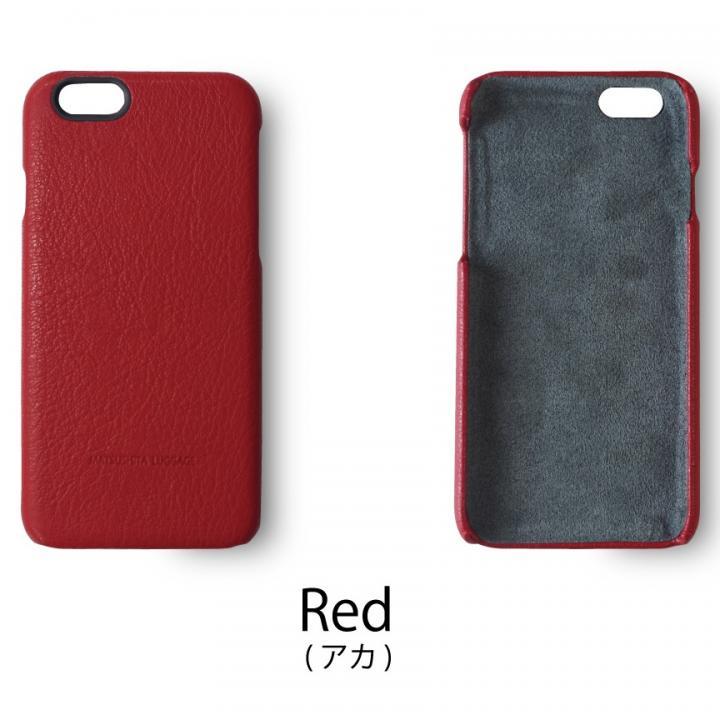 【iPhone6ケース】日本製天然皮革使用 レザーケース レッド iPhone 6_0