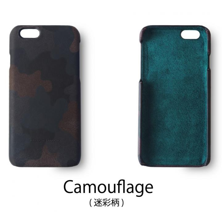 日本製天然皮革使用 レザーケース 迷彩 iPhone 6