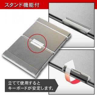 Bluetooth3.0 ワイヤレス折りたたみ式英語配列78キーボード ホワイトキー/シルバー_8